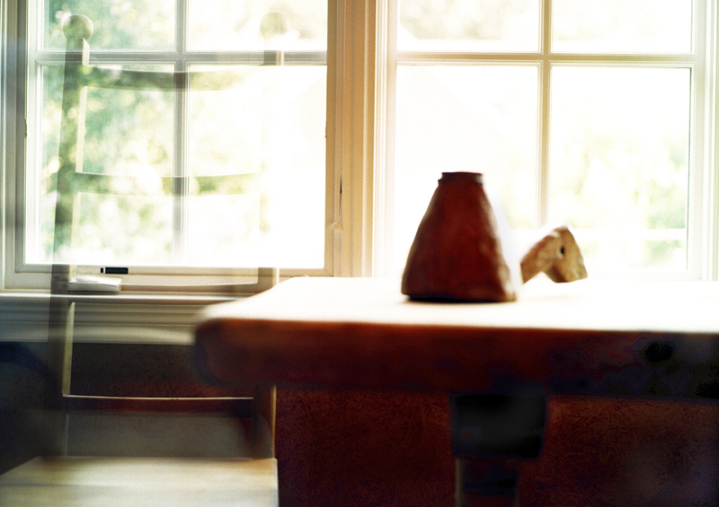"at the table  . archival pigment print . 26.5"" x 34"" . 2003-2005"